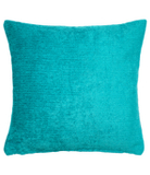 George Home  Teal Chenille Cushion - 40x40cm
